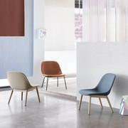 Muuto Fiber Lounge Chair   Wood base   Full upholstery