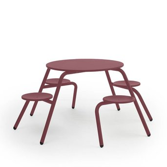 Extremis OUTLET | Extremis Virus Indoor | 4-Seater | Wine red