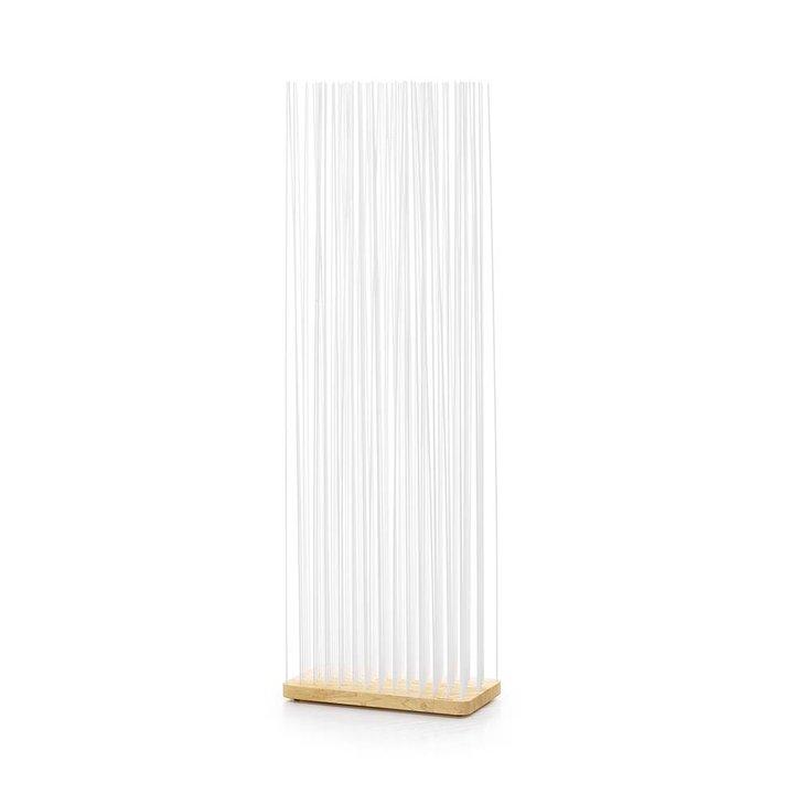 OUTLET | Extremis Sticks | Rectangular | Natural wood | White plastic | H 212 cm