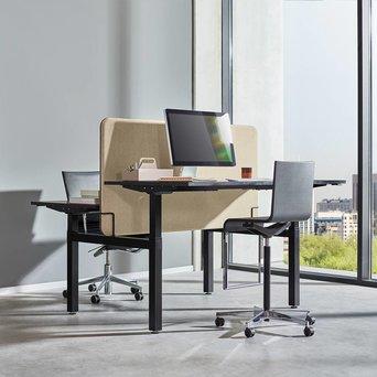 Workbrands Workbrands E-Smart | Steh-Sitz-Doppelarbeitsplatz | Elektrisch verstellbar