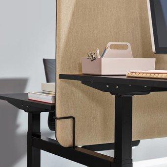 Workbrands Workbrands Smart | H 80 cm | Tussenscherm voor duo werkplek