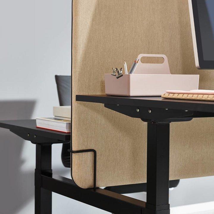 Workbrands Smart   H 80 cm   Tussenscherm voor duo werkplek