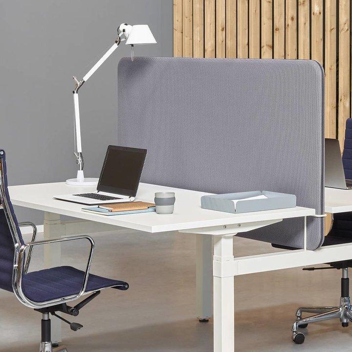 Workbrands Smart | H 80 cm | Scherm voor enkele werkplek