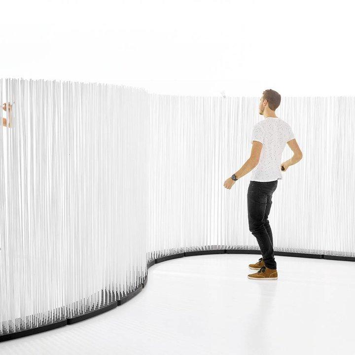 OUTLET   Extremis Sticks LED   Scharf gebogen   Kautschuk   Weiß kunststoff