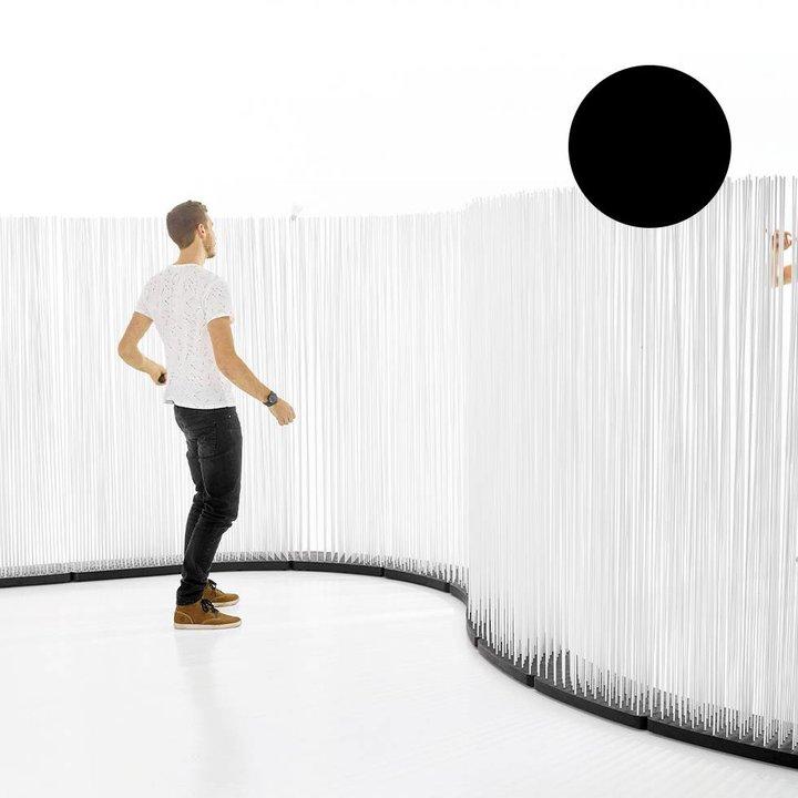 OUTLET | Extremis Sticks LED | Scherp gebogen | Rubber | Zwart kunststof | H 212 cm