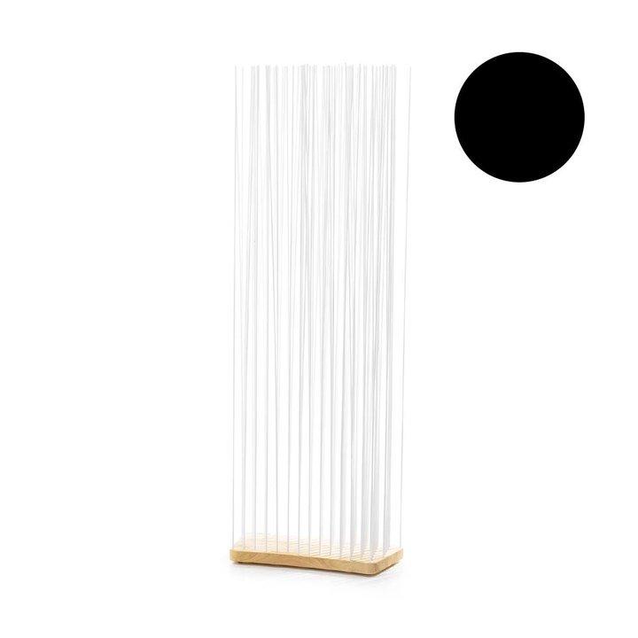 OUTLET | Extremis Sticks | Breit gebogen | Holz geölt | Schwarz kunststoff | H 212 cm