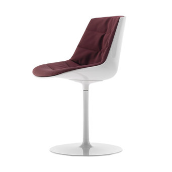 MDF Italia MDF Italia Flow Chair   Padded   Schijfvoet