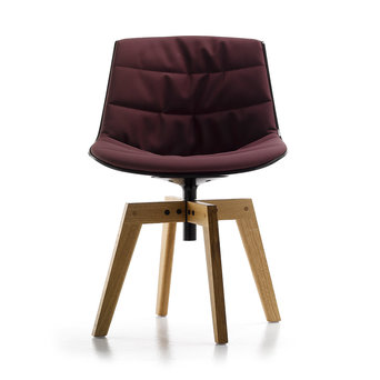MDF Italia MDF Italia Flow Chair   Padded   4 poots eiken