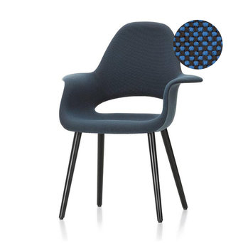 Vitra OUTLET | Vitra Organic Chair | Hopsak Poppy blue / moor brown  | black ash