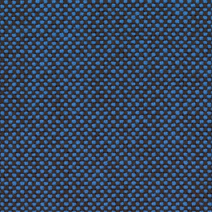 OUTLET | Vitra Organic Chair | Hopsak Poppy blue / moor brown  | black ash