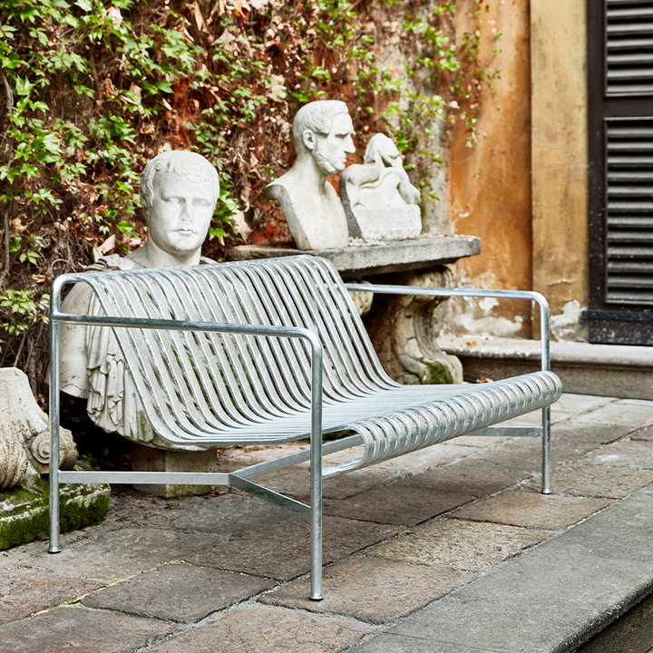 HAY Palissade Lounge Sofa Hot Galvanised