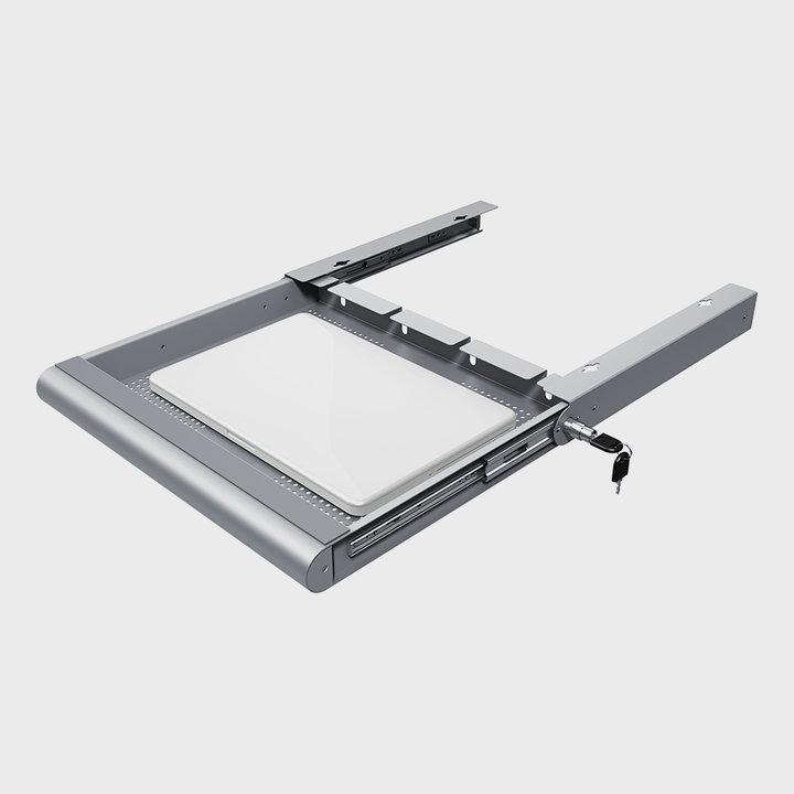 OUTLET | Dataflex Addit Laptop-Sicherheitsschublade | Silber