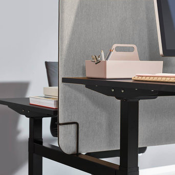 Workbrands OUTLET   Workbrands Smart scherm   159 x 65 cm   Nemo NE-10 lichtgrijs