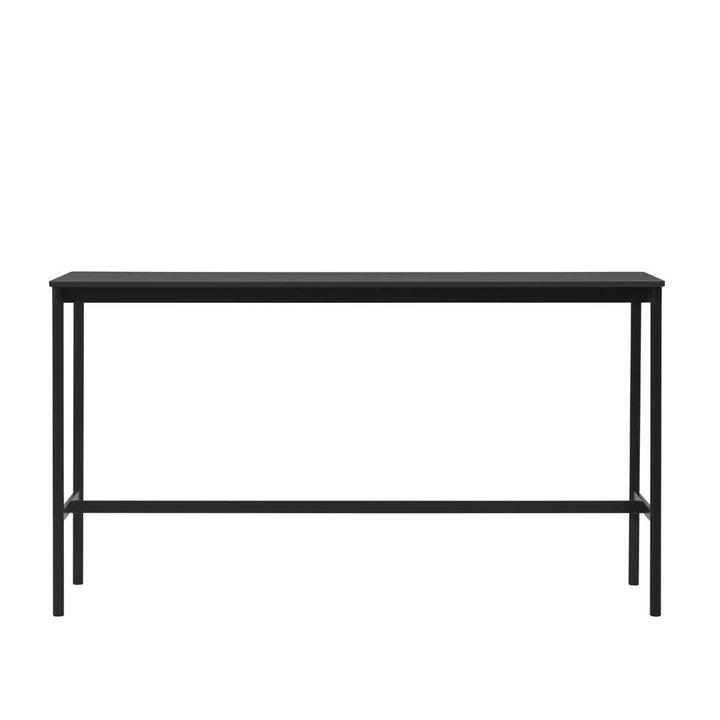 OUTLET | Muuto Base High Table | Schwarz Linoleum | Sperrholz | Schwarz