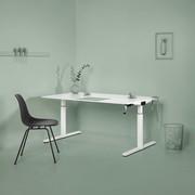 Refurbished Gispen TM desk   Grey frame