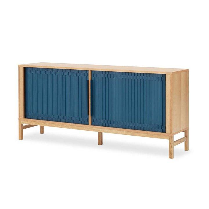 OUTLET | Normann Copenhagen Jalousi | W 161 x D 40 x H 75 cm | Dark blue