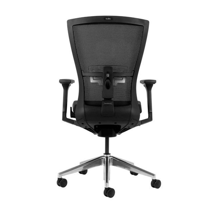 Refurbished Bestuhl Radius chair | Schwarz | Netzgewebe | Aluminium Untergestell | 3D Armlehnen