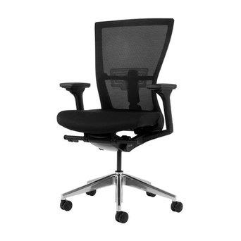 Workbrands Refurbished Bestuhl Radius chair | Schwarz | Netzgewebe | Aluminium Untergestell | 3D Armlehnen