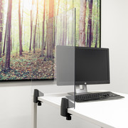 Smit Visual Teilerbildschirm Schreibtisch/Tisch | Plexiglas transparent | Inkl. 2 Klemmen