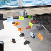 Smit Visual Divider screen Desk/Table | Plexiglas transparent | Incl. 2 clamps