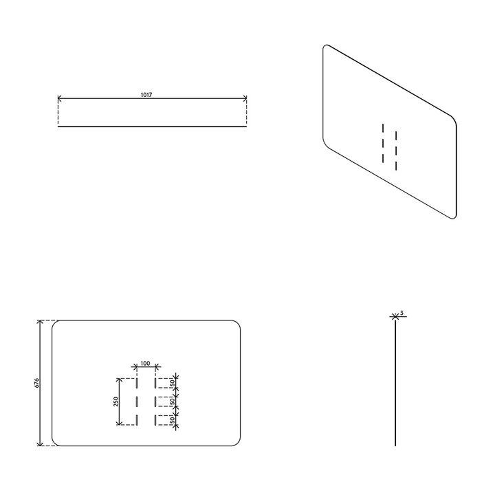 Dataflex Addit hygiënescherm – monitor 31