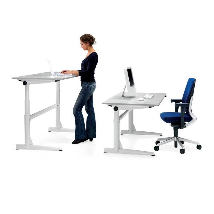 Refurbished Ahrend 500 sit / stand workstation   Electric adjustment