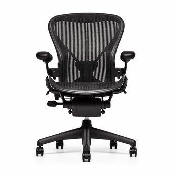 Herman Miller OUTLET | Herman Miller Aeron Chair Classic | Graphite | Forward tilt, tilt limiter | Lumbar
