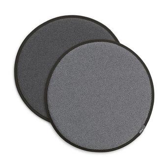 Vitra OUTLET | Vitra Seat Dot | Plano nero / cremeweiß | Sierra grau / nero | Ø 38 cm