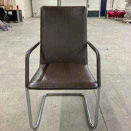 Brunner RWC | Brunner Fina Soft 6756/A Chair | Braunes leder | Kufengestell Chrom