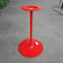 Workbrands RWC | Tischfuß mit Trumpetenfuß | Rot | Ø 47 x H 74 cm
