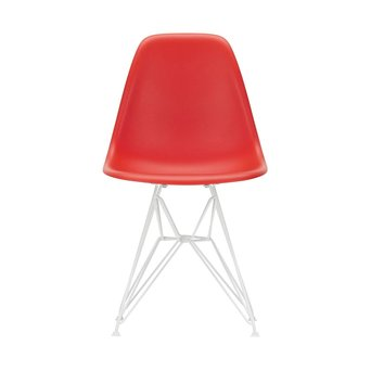 Vitra OUTLET | Vitra Eames Plastic Side Chair DSR | Classic red | White powder-coated