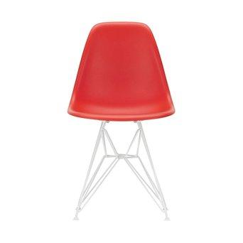 Vitra OUTLET | Vitra Eames Plastic Side Chair DSR | Klassiek rood | Wit poedercoating