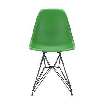 Vitra OUTLET | Vitra Eames Plastic Side Chair DSR | Klassiek groen | Basic dark poedercoating