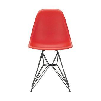 Vitra OUTLET | Vitra Eames Plastic Side Chair DSR | Klassiek rood | Basic dark poedercoating