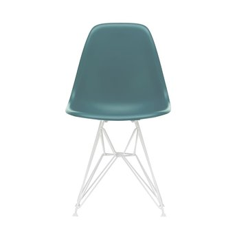 Vitra OUTLET | Vitra Eames Plastic Side Chair DSR | Oceaan | Wit poedercoating