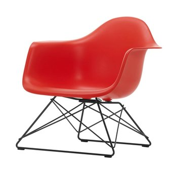 Vitra OUTLET | Vitra Eames Plastic Armchair LAR | Classic red | Basic dark powder-coated
