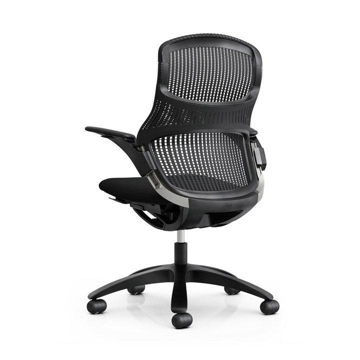 Refurbished Knoll Generation Task Chair | Lumbar Support | Onyx