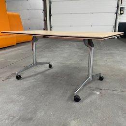 Kusch+Co RWC | Kusch+Co 6040 Klaptafel | Houten tafelblad | Chroom frame | B 139 x D 76 x H 74 cm