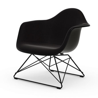 Vitra OUTLET | Vitra Eames Plastic Armchair LAR | Basic dark | Hopsak Nero | Basic dark powder-coated