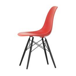 Vitra OUTLET | Vitra Eames Plastic Side Chair DSW | Klassiek rood | Esdoorn zwart
