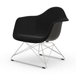 Vitra OUTLET | Vitra Eames Plastic Armchair LAR | Basic dark | Hopsak Nero | Wit poedercoating