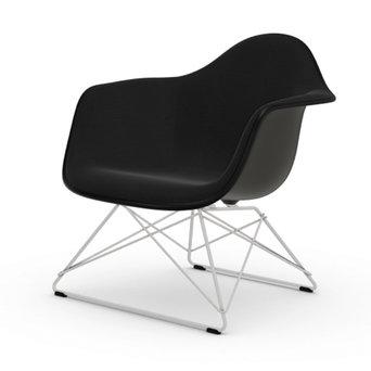Vitra OUTLET | Vitra Eames Plastic Armchair LAR | Basic dark | Hopsak Nero | White powder-coated