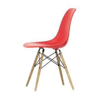 Vitra OUTLET | Vitra Eames Plastic Side Chair DSW | Klassiek rood | Esdoorn goud