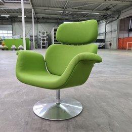 Artifort RWC | Artifort Tulip Armchair | Groene bekleding | Aluminium frame | Draaibaar