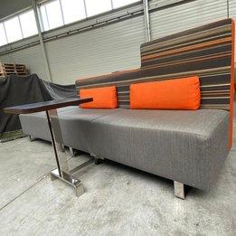 Workbrands RWC   Bank met tafeltje en kussens   Gestoffeerd   Verchroomd metalen frame