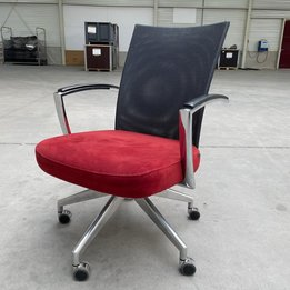 Fröscher RWC   Fröscher bureaustoel met lederen armleuningen   Gestoffeerd   Aluminium