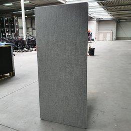Workbrands RWC   Zijscherm voor duo-bureau   Lichtgrijs gestoffeerd   B 71 x D 2,5 x H 160 cm