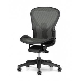 Herman Miller OUTLET | Herman Miller Aeron Chair Remastered B | Graphite | Tilt limiter | Lumbar | Zonder armleuningen