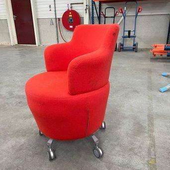 Orangebox RWC | Orangebox Dean | Rood gestoffeerd | Met wielen