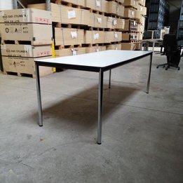 Workbrands RWC   Rechthoekige tafel   Kunststof tafelblad   Staal frame   B 200 x D 80 x H 76 cm